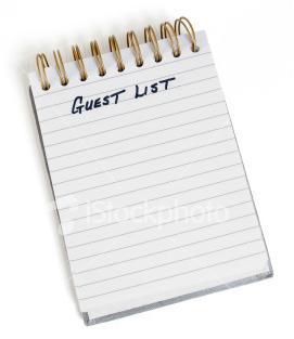 wedding guest list micah the missus