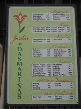 Jardin de dasmari as resort restaurant a review micah the missus - Jardin des crayeres menu ...